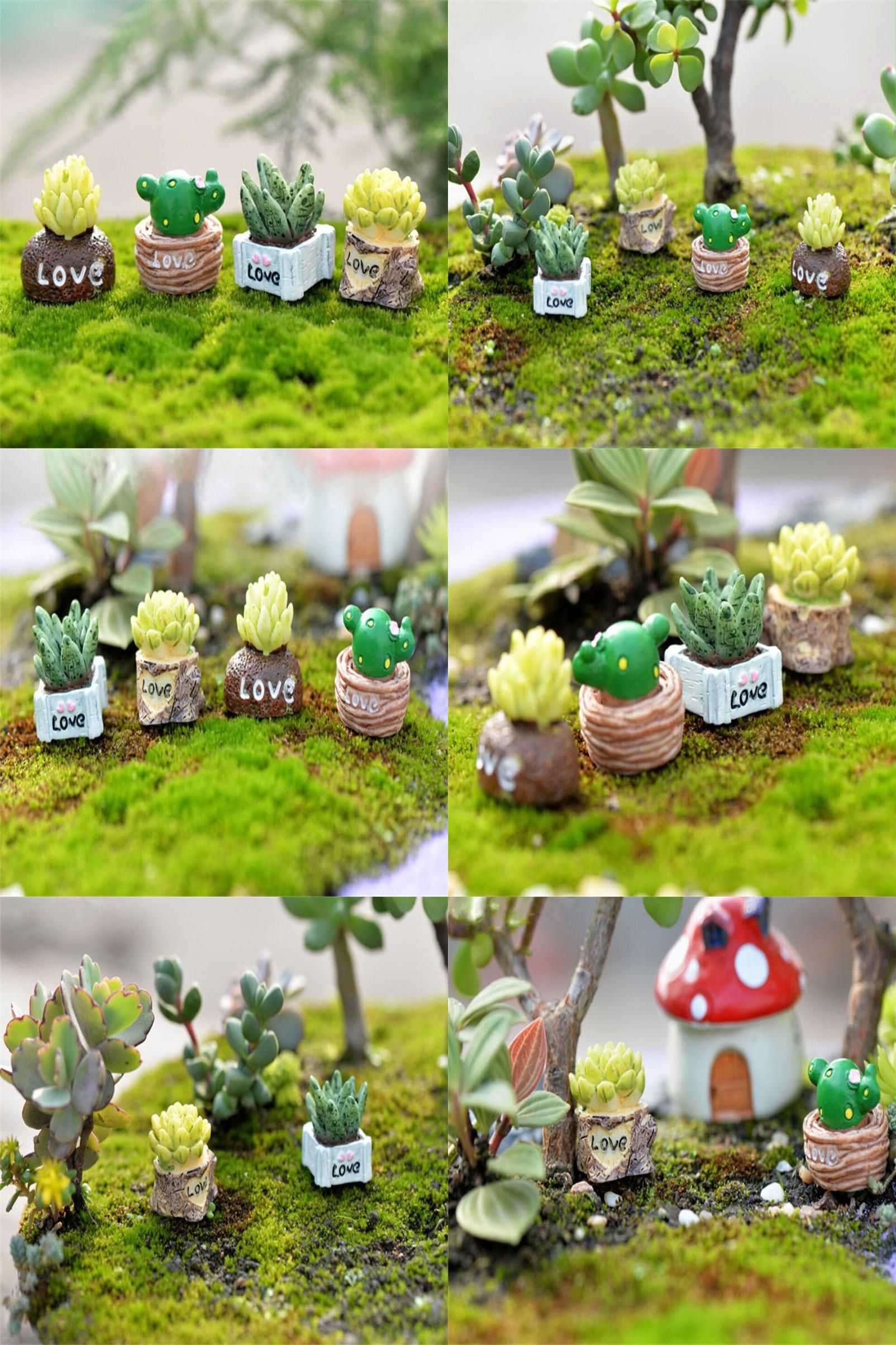 Visit to Buy] Lifelike Mini Artificial Fleshy Cactus Plant Landscape ...