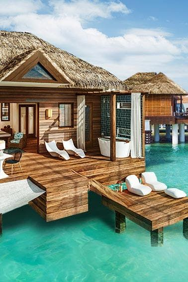 5 Overwater Bungalow Resorts That Are So Much Easier to Get to Than Bora Bora #purewow #international #vacation #hotel #domestic #travel #vacation inspiration