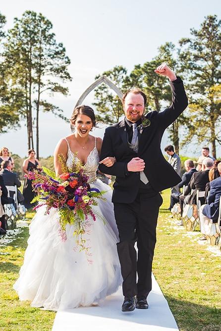 Jennifer Dylan Real Houston Wedding Princess Wedding Purple