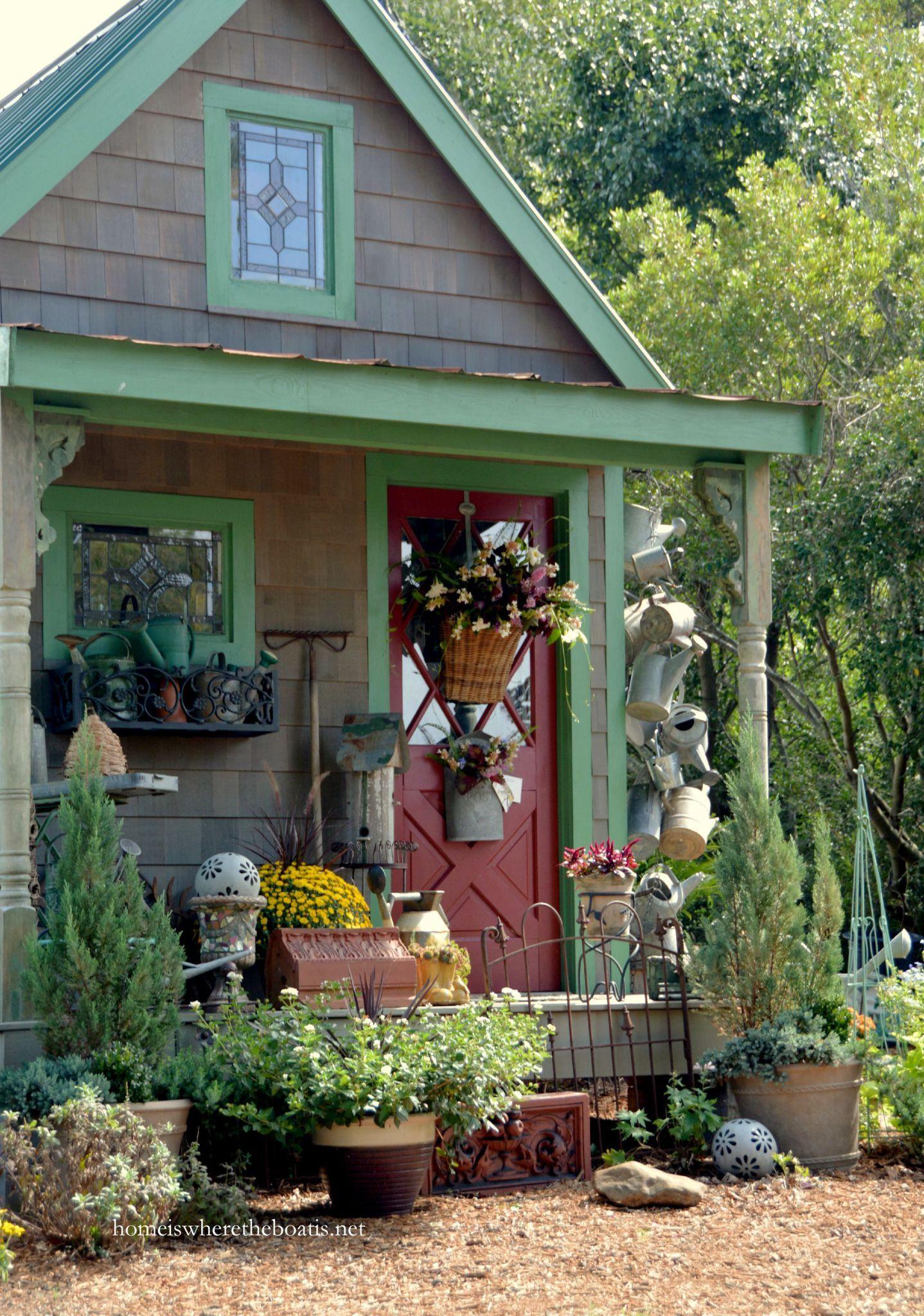Potting Shed | homeiswheretheboatis.net #garden | Garden | Pinterest ...