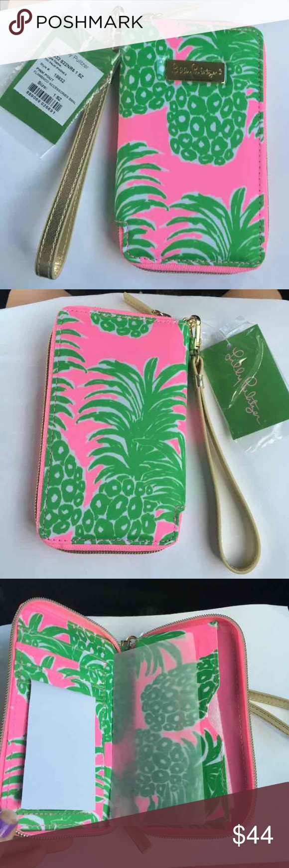 ❗️SALE❗️$48 Lilly Pulitzer wristlet New with tags $48 Lilly Pulitzer wristlet in flamenco in tiki Palm iPhone 6// brand new, perfect condition, never used before Lilly Pulitzer Bags Clutches & Wristlets