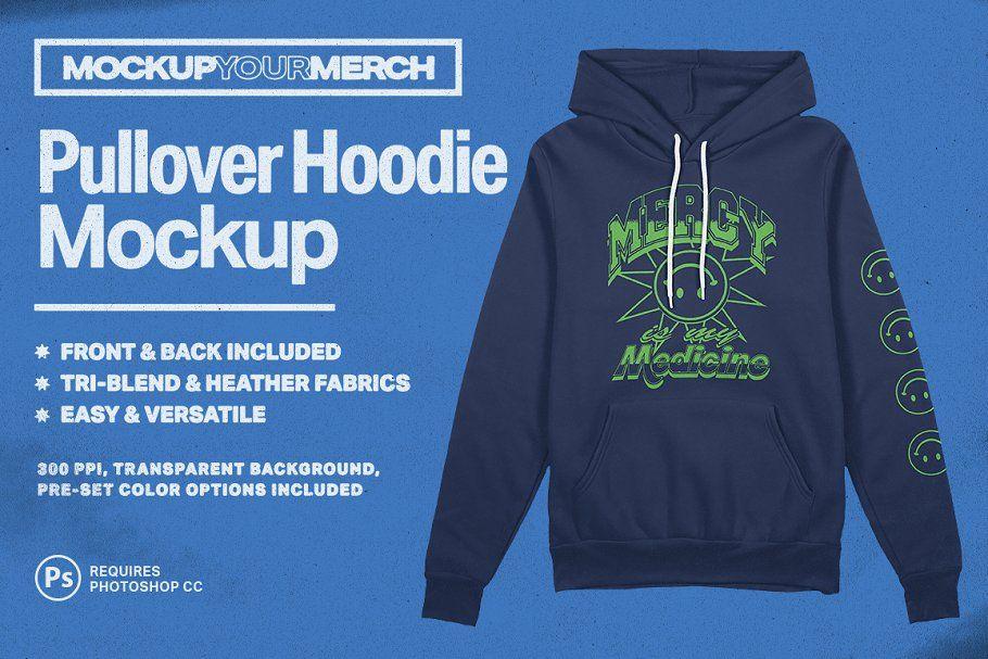 Download Pullover Hoodie Merch Mockup Hoodie Mockup Hoodies Pullover Hoodie