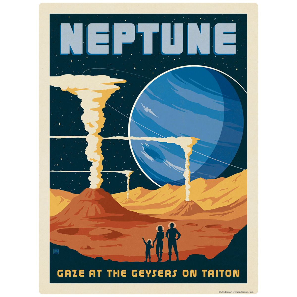 Neptune Space Travel Decal