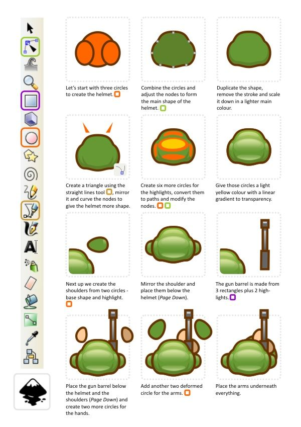 2d Game Character Design Tutorial : Top down view soldier d game art and