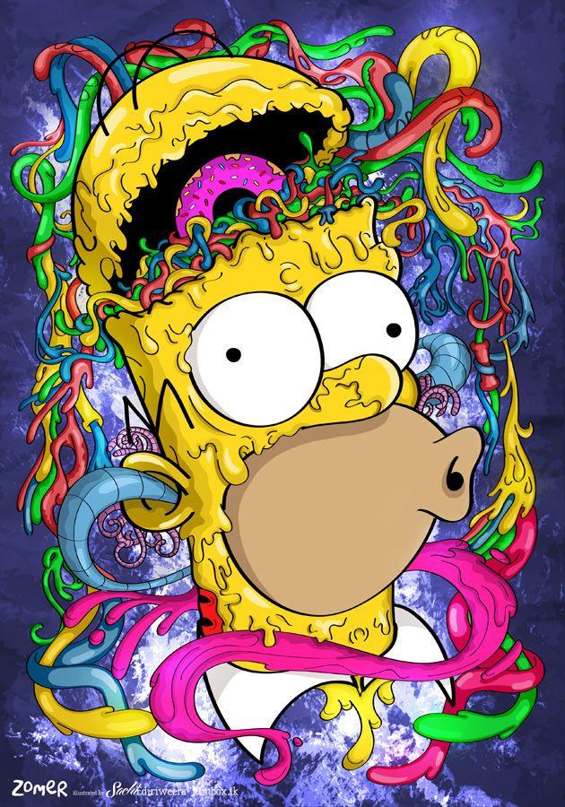 Imagine Homer Simpson As A Zombie On LSD
