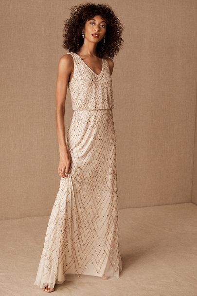 Fidelia Beaded Maxi Dress In 2020 Beaded Maxi Dress Champagne Formal Dresses Dresses