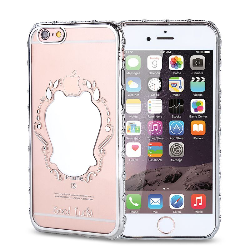 For iPhone Luxury Case Women Girls Mirror Plating TPU Soft Transparent  Ultra-thin Clear Phone Cases For iphone6 6s 6plus 6s plus  96e21ad7a
