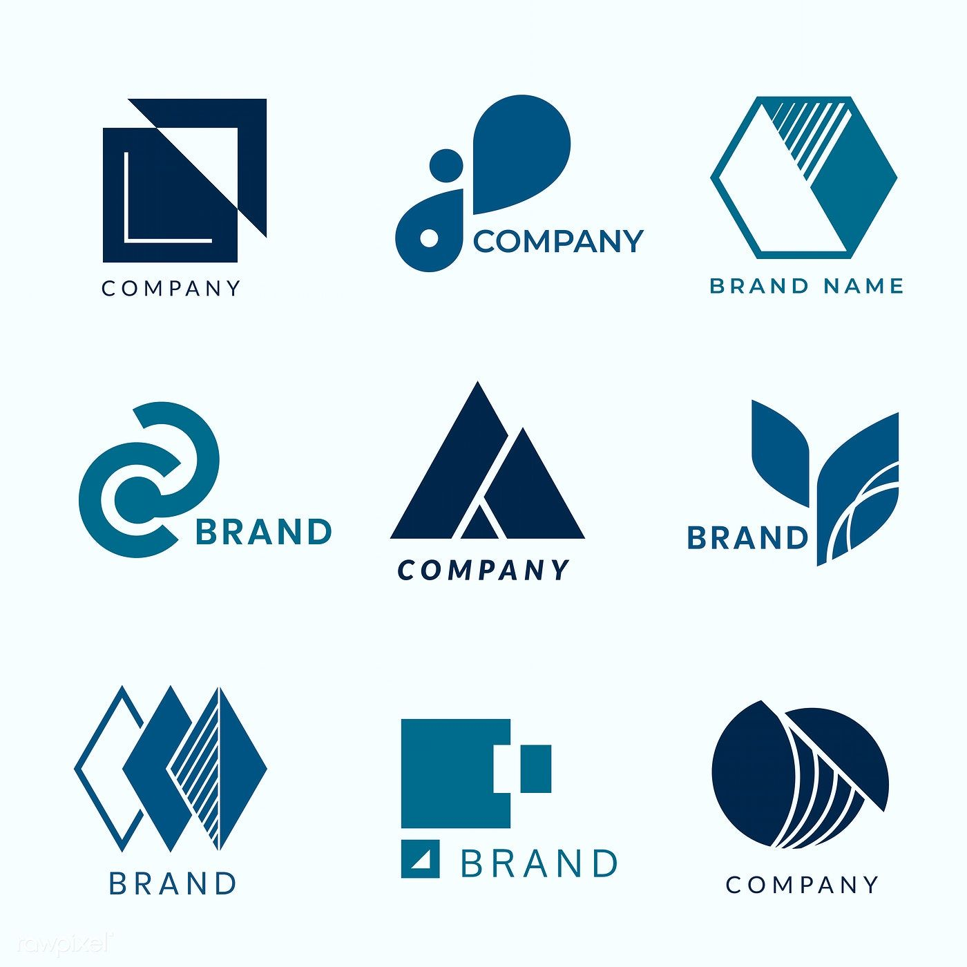 Download premium vector of Company branding logo designs