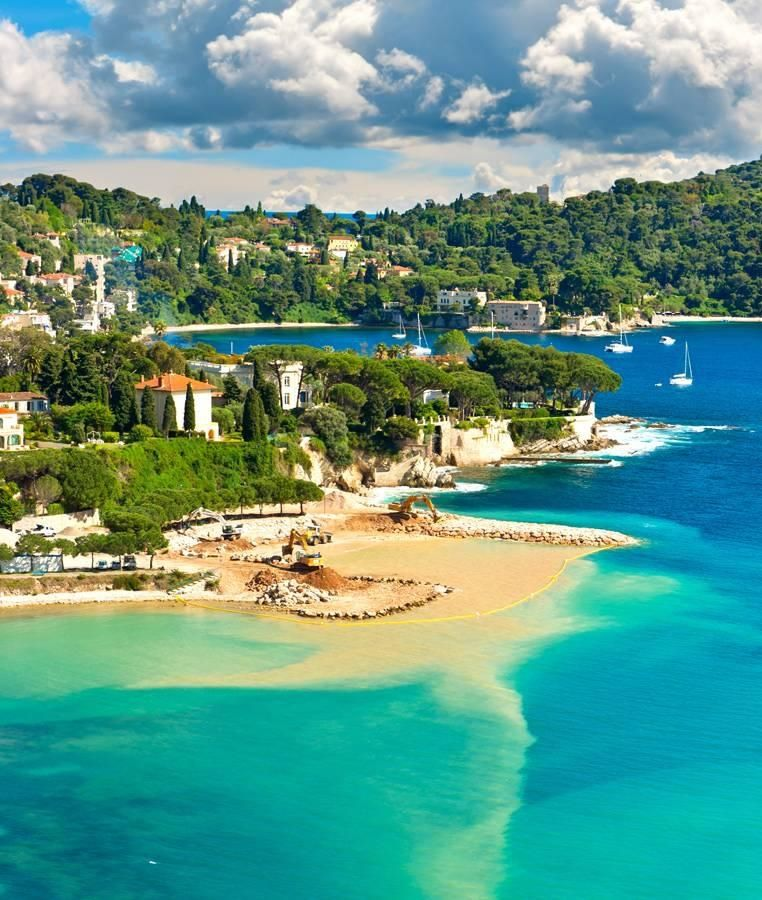 Villefranche-sur-Mer, France. Villefranche-sur-Mer adjoins the city of Nice to the east along Mont Boron, Mont Alban and Mont Vinaigrier, and 10 km (6.2 mi) south west of Monaco.