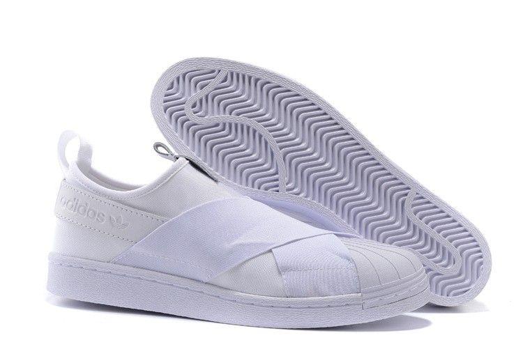 Adidas Originali Superstar Scivolare Su S81338 Bianchi E Scarpe Bianche Le Scarpe