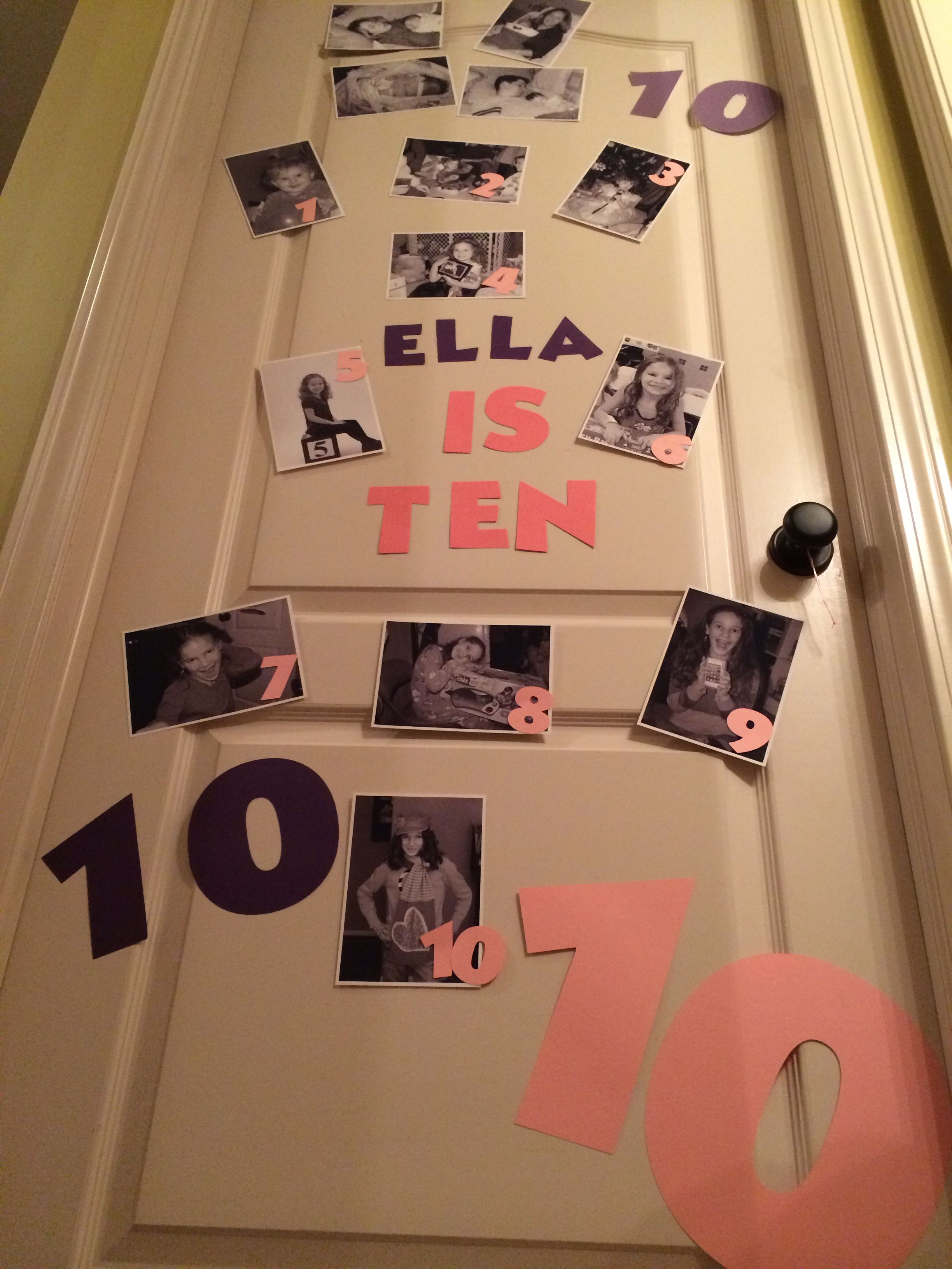 Birthday Door Decoration Ten Years Old Birth Pictures