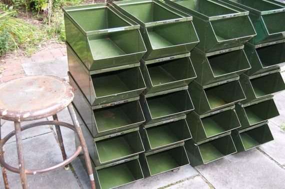 Your Place To Buy And Sell All Things Handmade Metal Bins Stackable Storage Bins Storage Bins