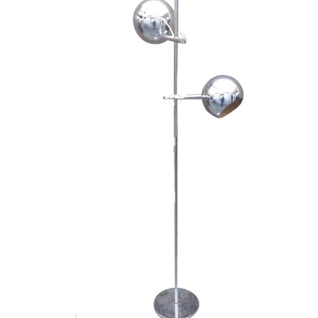 Vintage French Chrome Eyeball Chrome Floor Lamp on Chairish.com ...