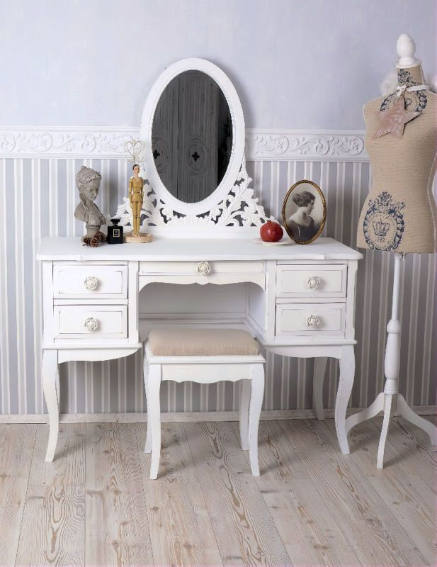 schminktisch hocker frisiertisch poudreuse frisierkommode shabby chic coiffeuse pinterest. Black Bedroom Furniture Sets. Home Design Ideas
