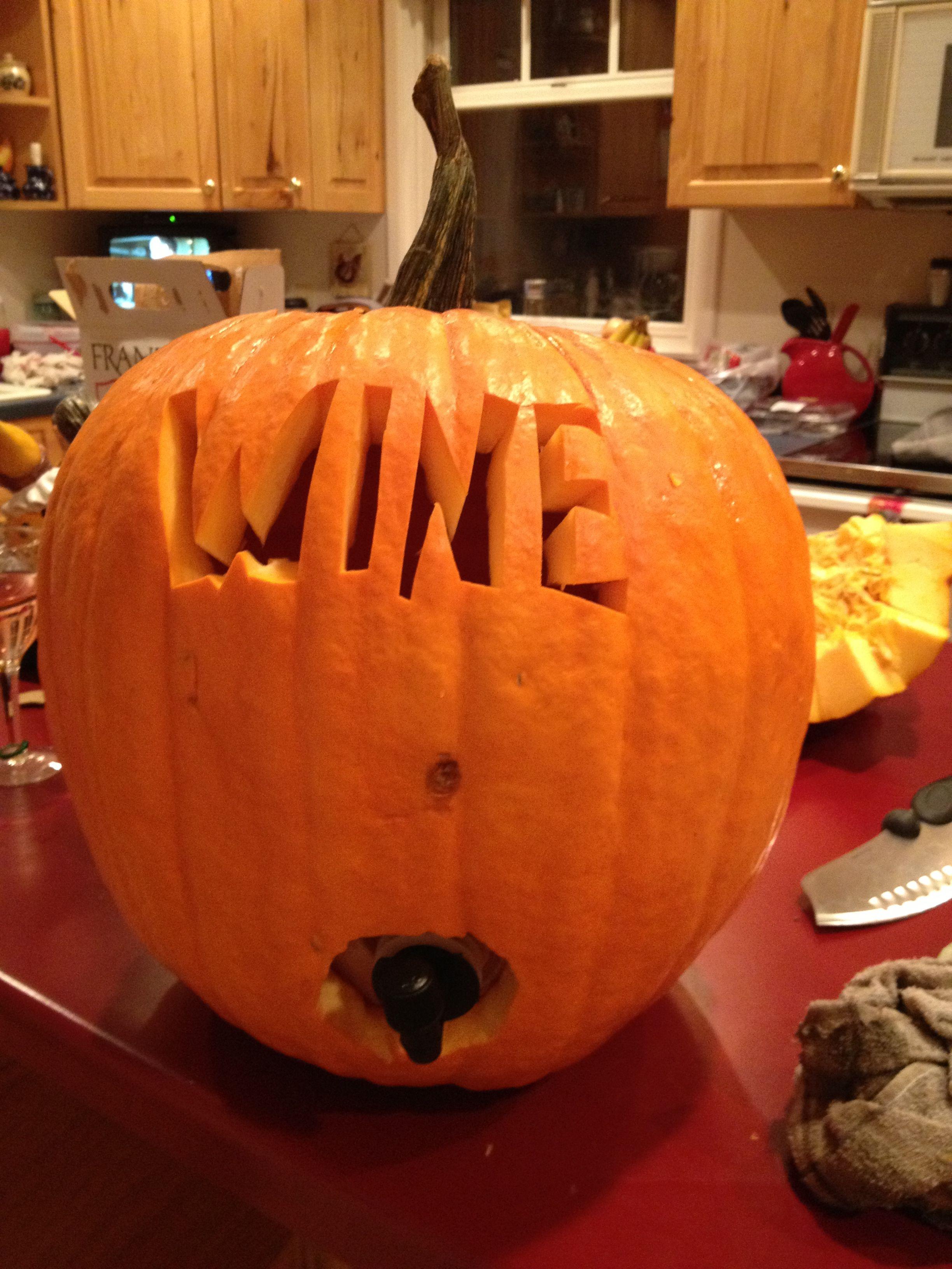 Wine Pumpkin Put A Bag Of Boxed Wine Inside Make A Hole