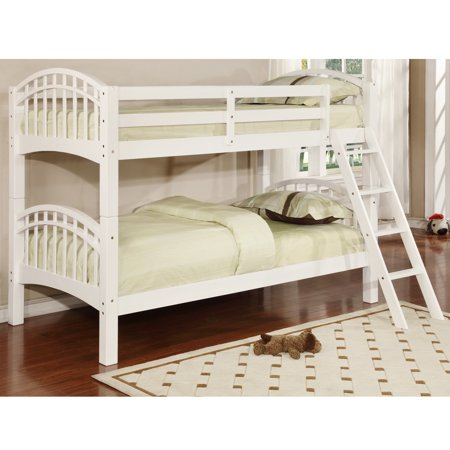 Opus Double Arched Design Twin Over Twin Bunk Bed White Twin Bunk Beds White Bunk Beds Bunk Beds