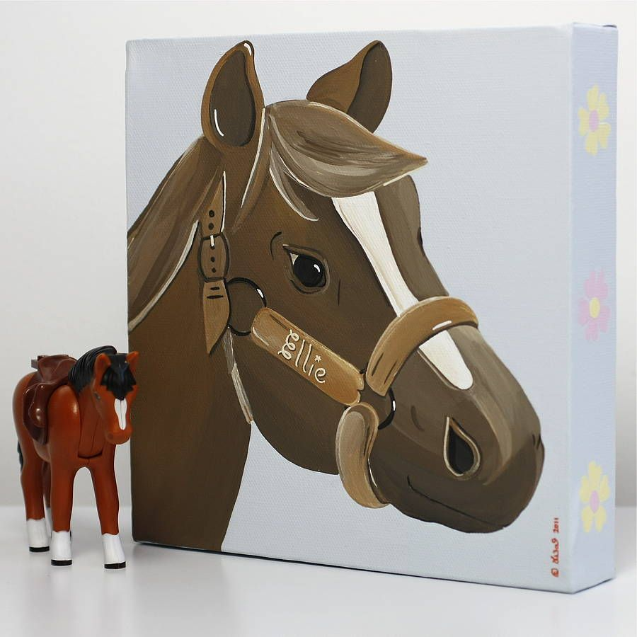 pony picture canvases personalised by lizajdesign | notonthehighstreet.com