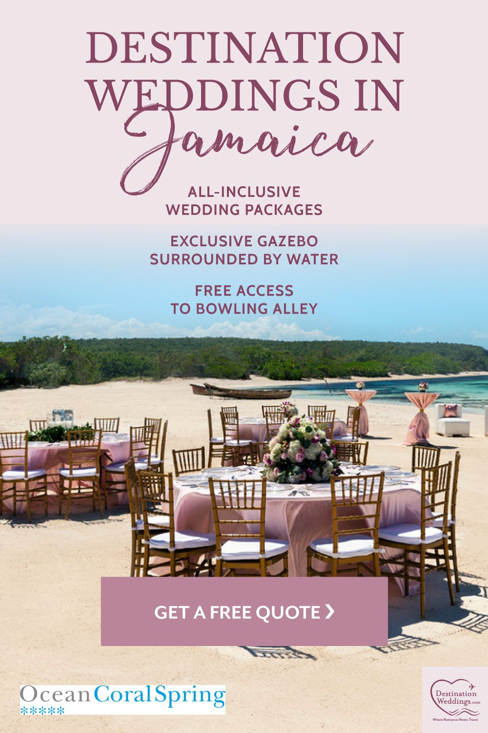 Destination Weddings In Jamaica At Ocean Coral Spring Resort Offer Affordable All In In 2020 Destination Wedding Jamaica Wedding Package All Inclusive Wedding Packages