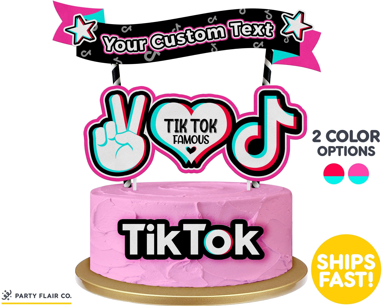 Tik Tok Cake Topper Age Charm Set Personalized Tik Tok Cake Topper Tik Tok Topper In 2020 Cake Sizes Cake Toppers Charm Set