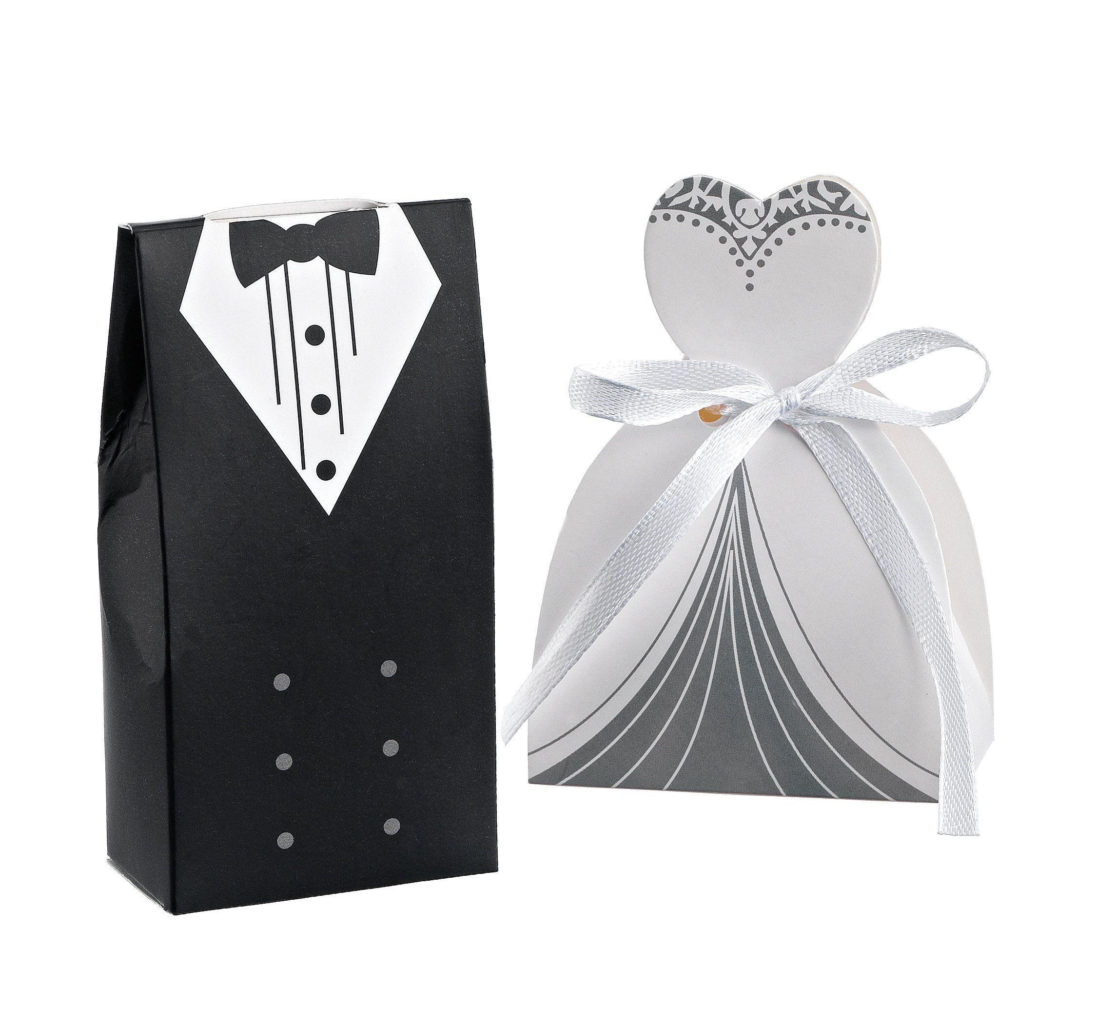 Groom Bride Wedding Favors 20-200 Box Favors Bridal Party