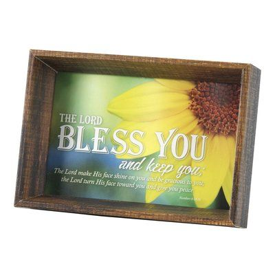 Winston Porter Micheals Lord Bless Num 6 24 26 Tabletop Picture Frame Picture Frame Sets Wood Picture Frames Picture Frames