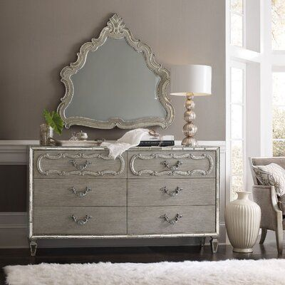 Hooker Furniture Sanctuary 6 Drawer Double Dresser with Mirror | Perigold