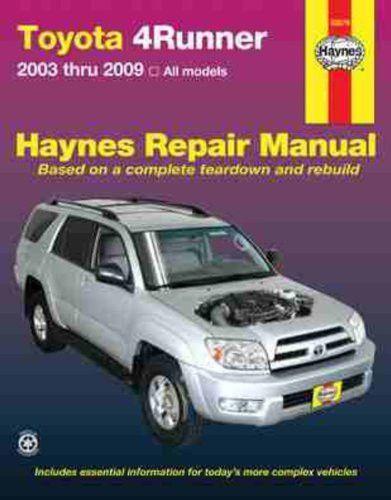 Toyota 4Runner, '03'09 (Haynes Repair Manual) Products