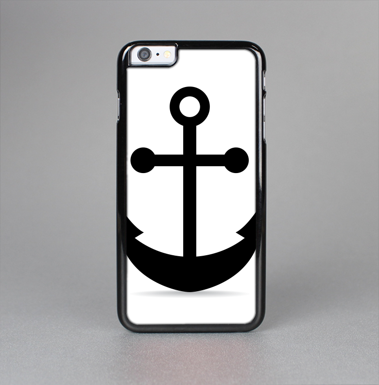The Solid Black Anchor Silhouette Skin-Sert for the Apple iPhone 6 Plus Skin-Sert Case