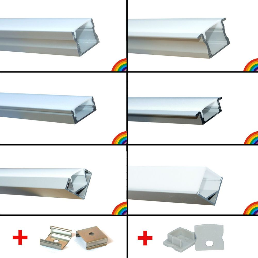 Led Strip Aluprofil Set Alu Profil Schiene Aluminium Streifen Profilschiene Elox Led Stripes Led Streifen Led