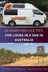 Photo of 20 Handy Van Life Tips for Living in a Van in Australia. Ultimate list of Van Li…