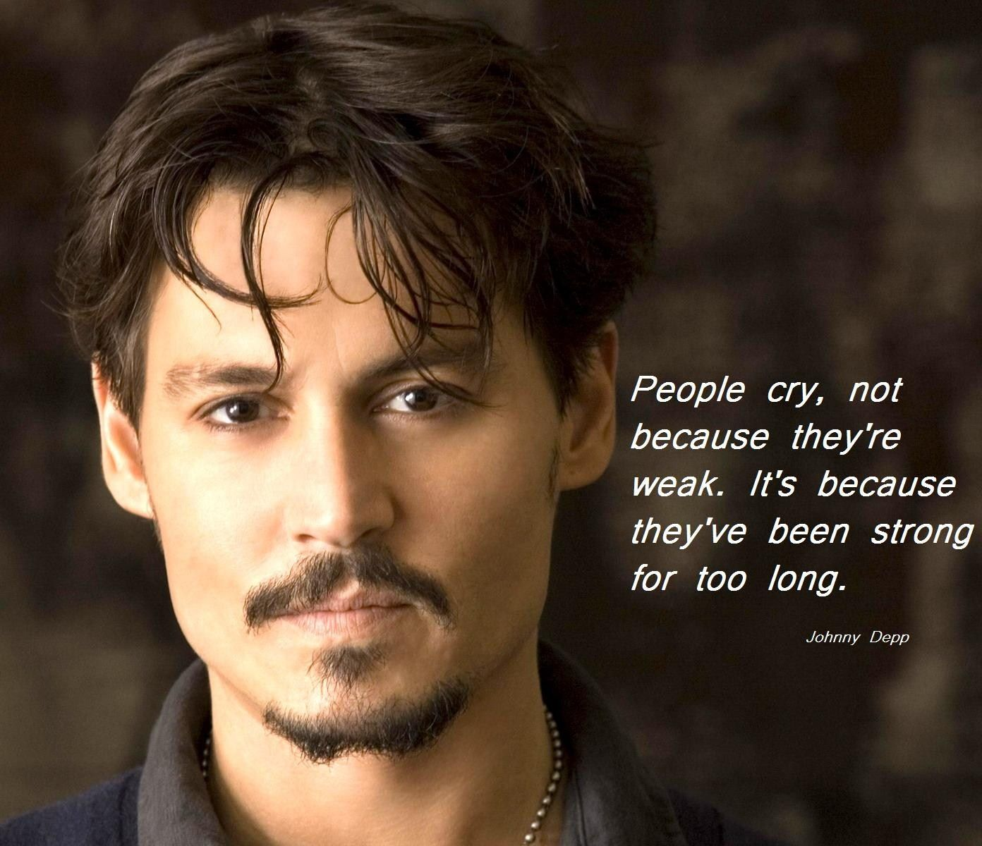 Image result for Johnny Depp people who cry