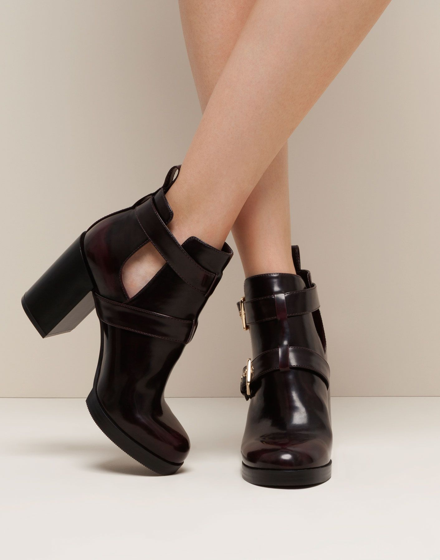 Women Pull&Bear Cut Out Ankle Boot Ankle Boots Black Sale