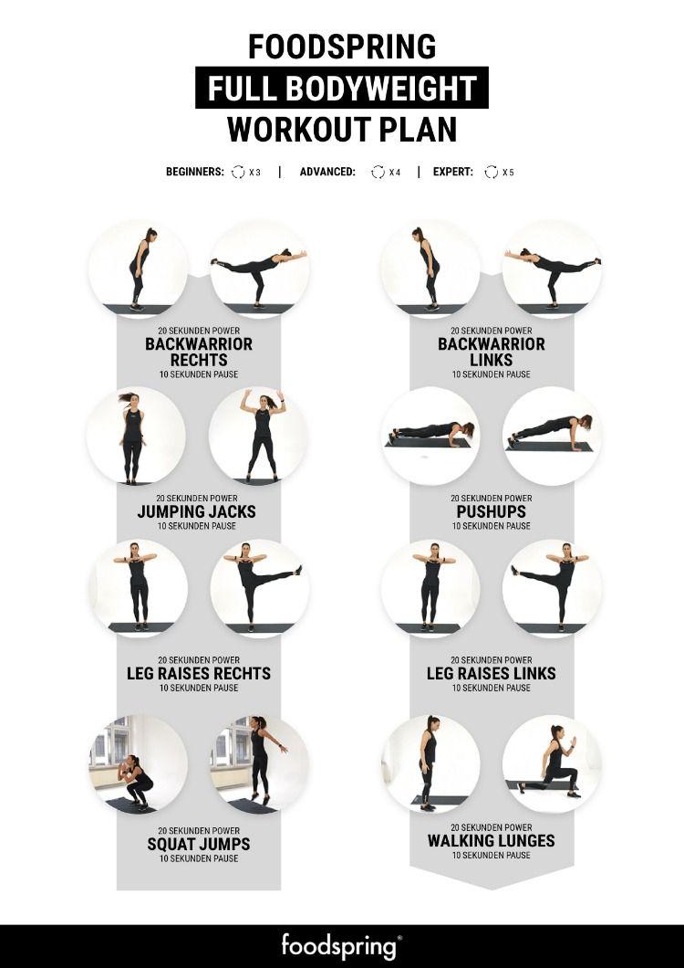 Bodyweight Training So Wirst Du Fit Ohne Gerate Foodspring Magazine De Korpergewicht Training Bodyweight Trainingsplan Workout