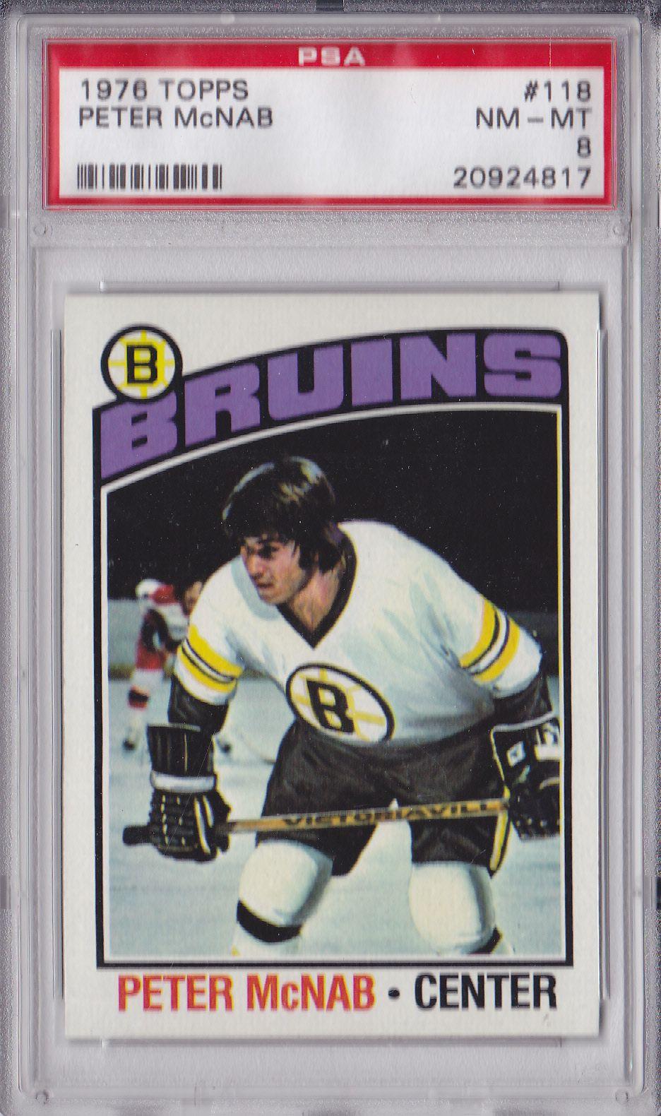 197576 Topps Peter McNab 118 Hockey cards