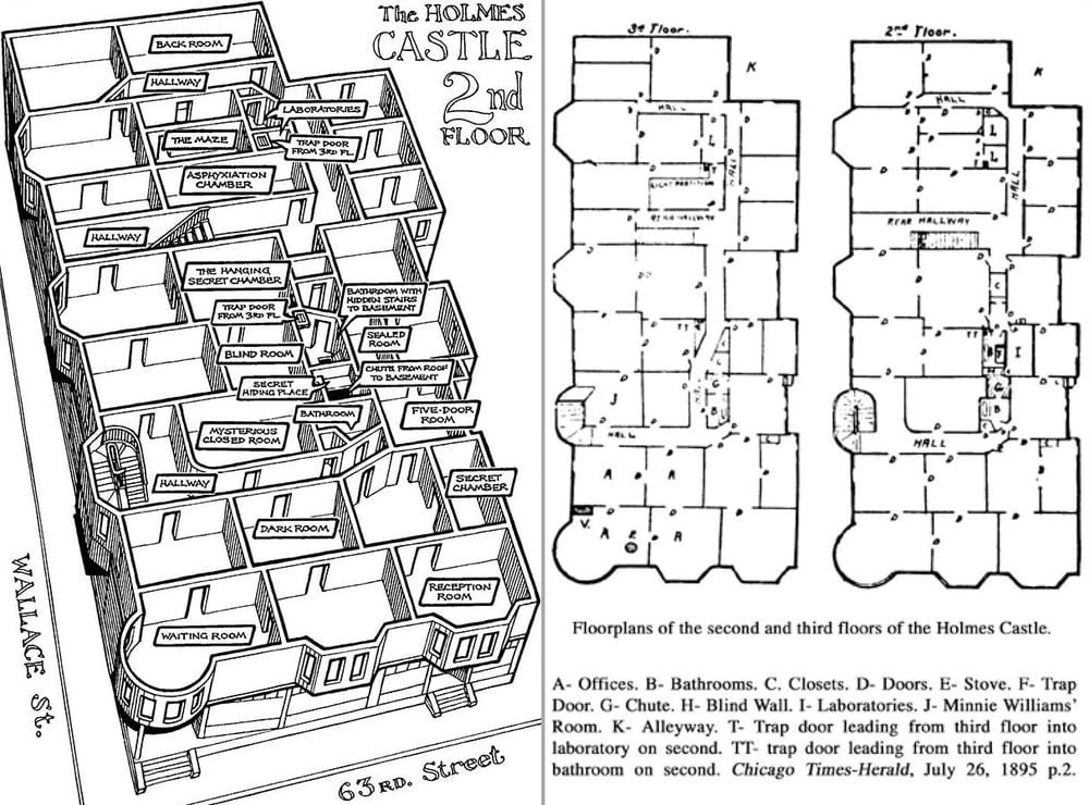hh holmes house plans