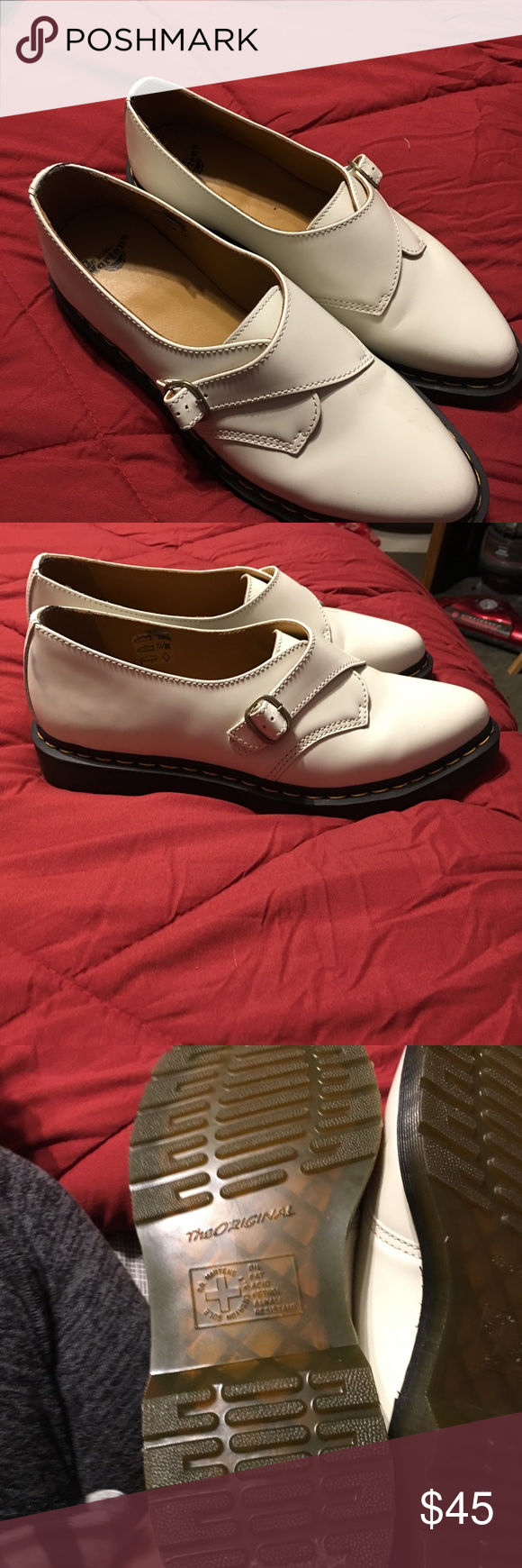 White Leather Dr Martens Perfect condition Dr. Martens Shoes Flats & Loafers