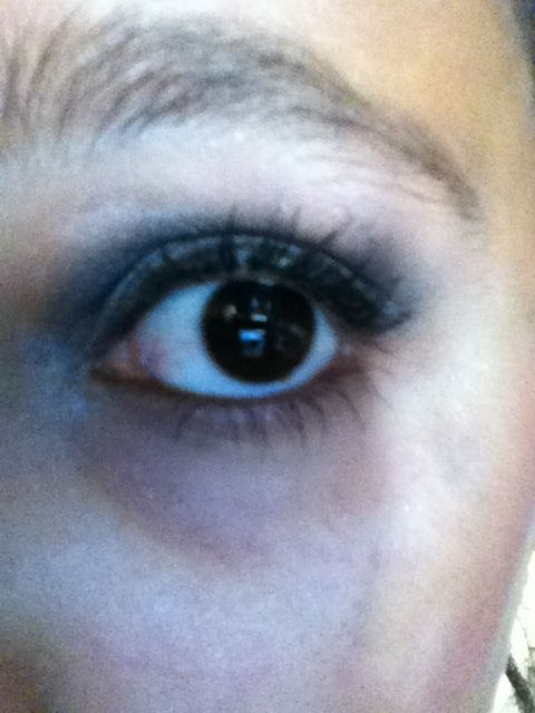 This is what I like to call my smokey eye with winged eye liner