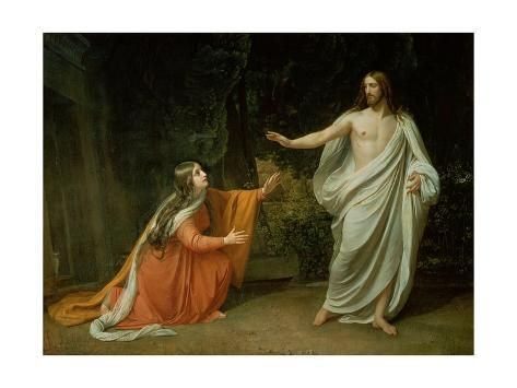 The Appearance Of Christ To Mary Magdalene 1835 Giclee Print Aleksandr Andreevich Ivanov Art Com In 2020 Mary Magdalene Noli Me Tangere Jesus