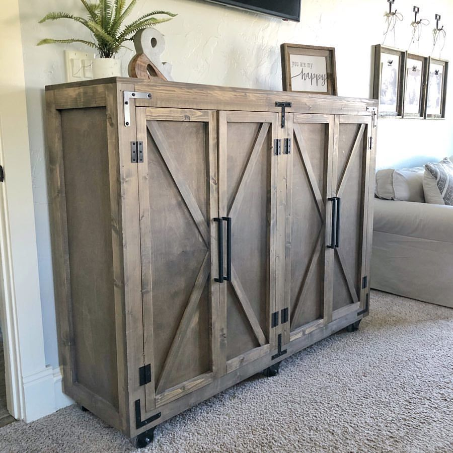 Cabinet Plans Free: Just Posted The Free Plans For This Farmhouse Storage