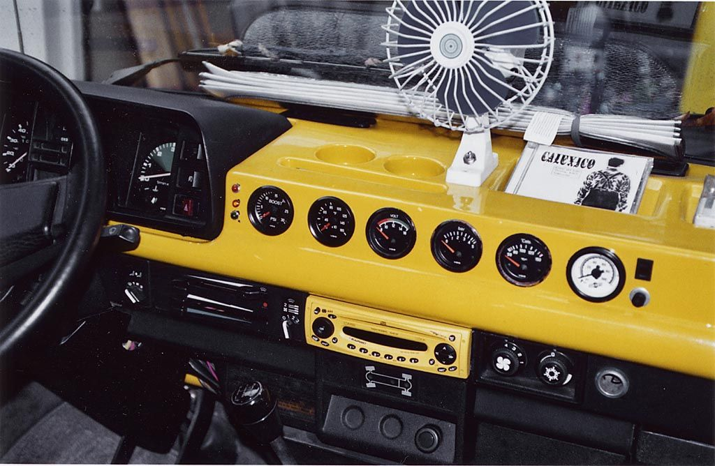 Custom Painted Fiberglass Dash Is A Beauty Vw Syncro Volkswagen