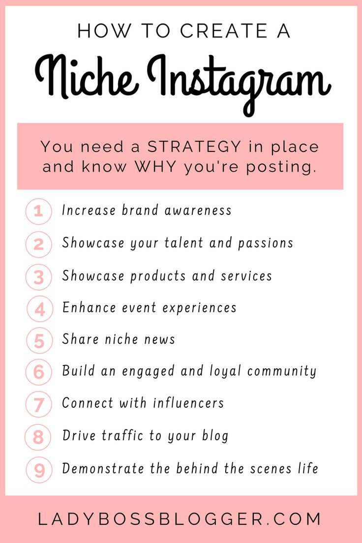 How To Create A Niche Instagram Account. instagram