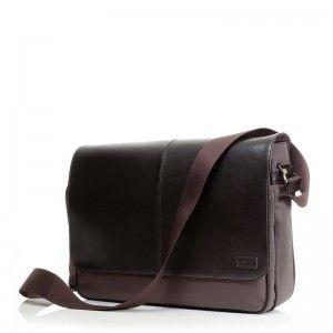81dd69a6d2c Knomo Bristol Dark Brown 15 inch | Heren laptoptassen