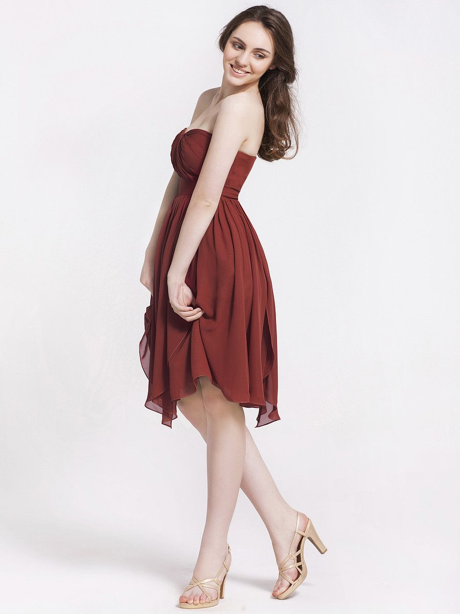 Burnt Sienna Bridesmaid Dress