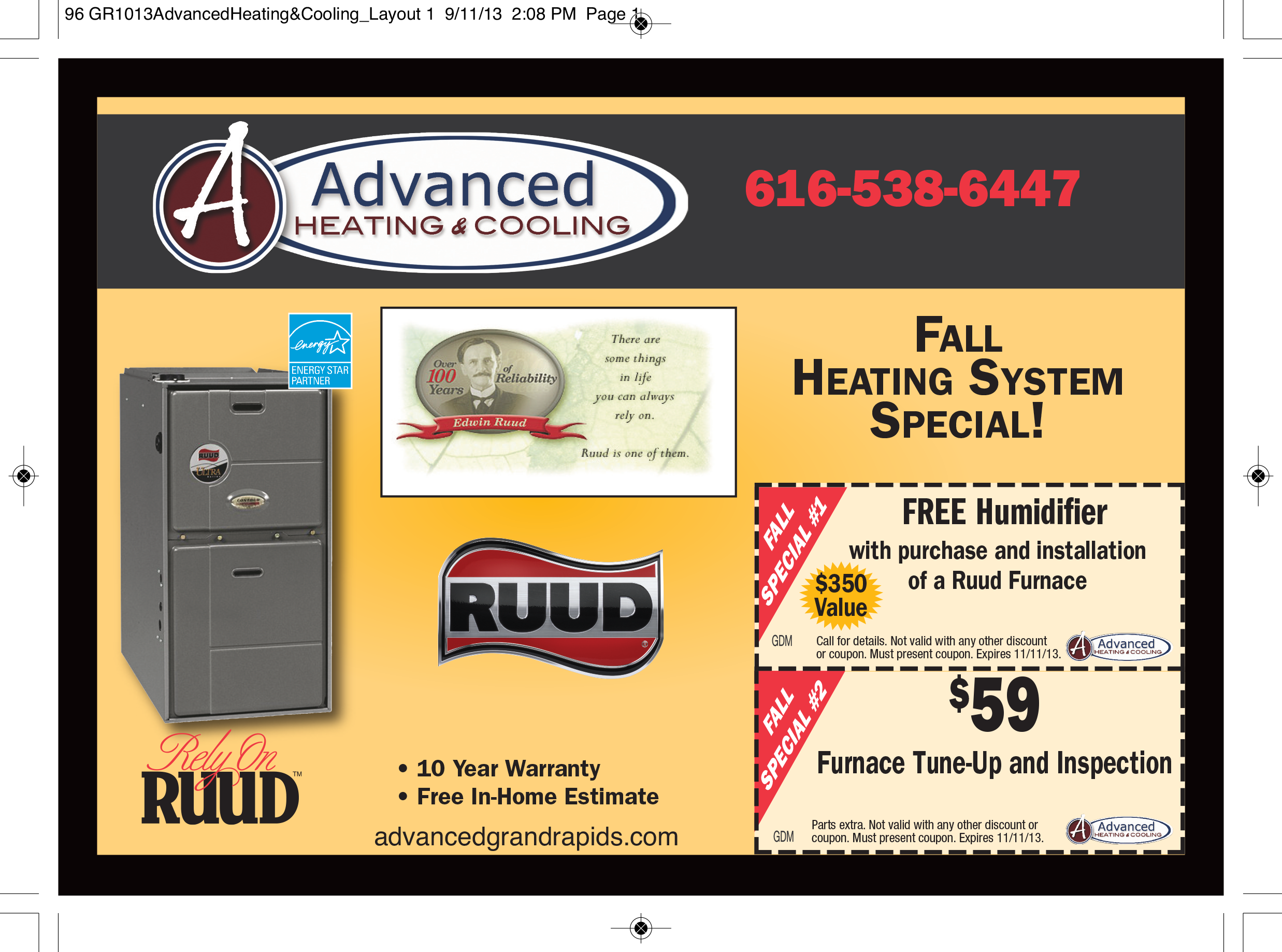 Advanced Heating Cooling Free Humidifier With Purchase And Installation Of A Ruud Furnace With Images Ruud Furnace