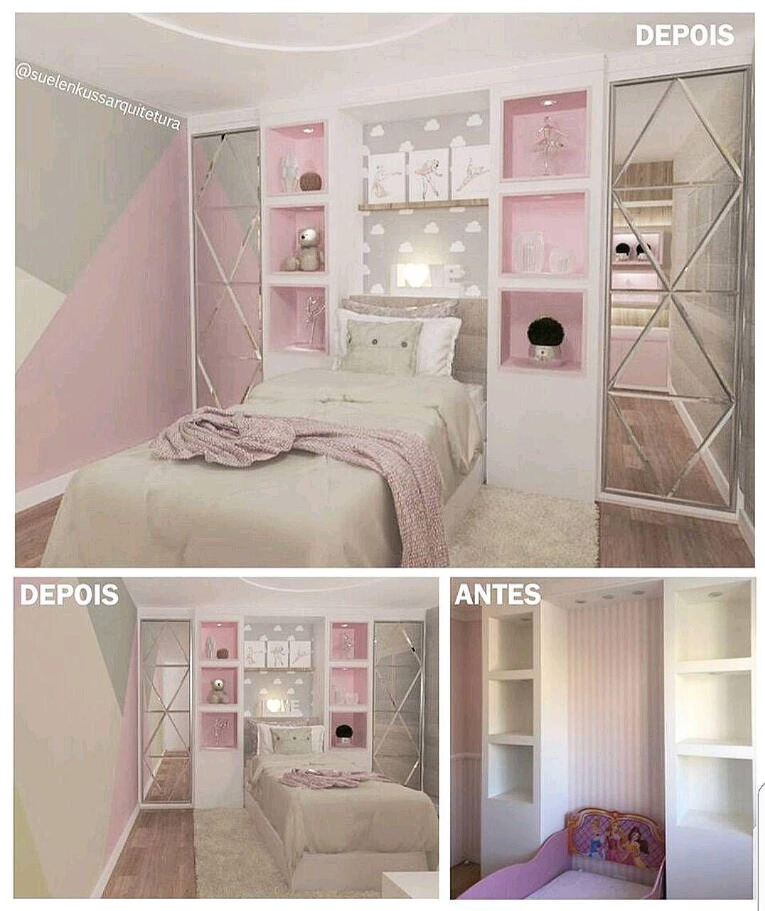 Diy Bedroom Ideas For Girls Or Boys Furniture Decora O De  ~ Diy Decoração Quarto Pequeno E Nichos No Quarto Do Bebe