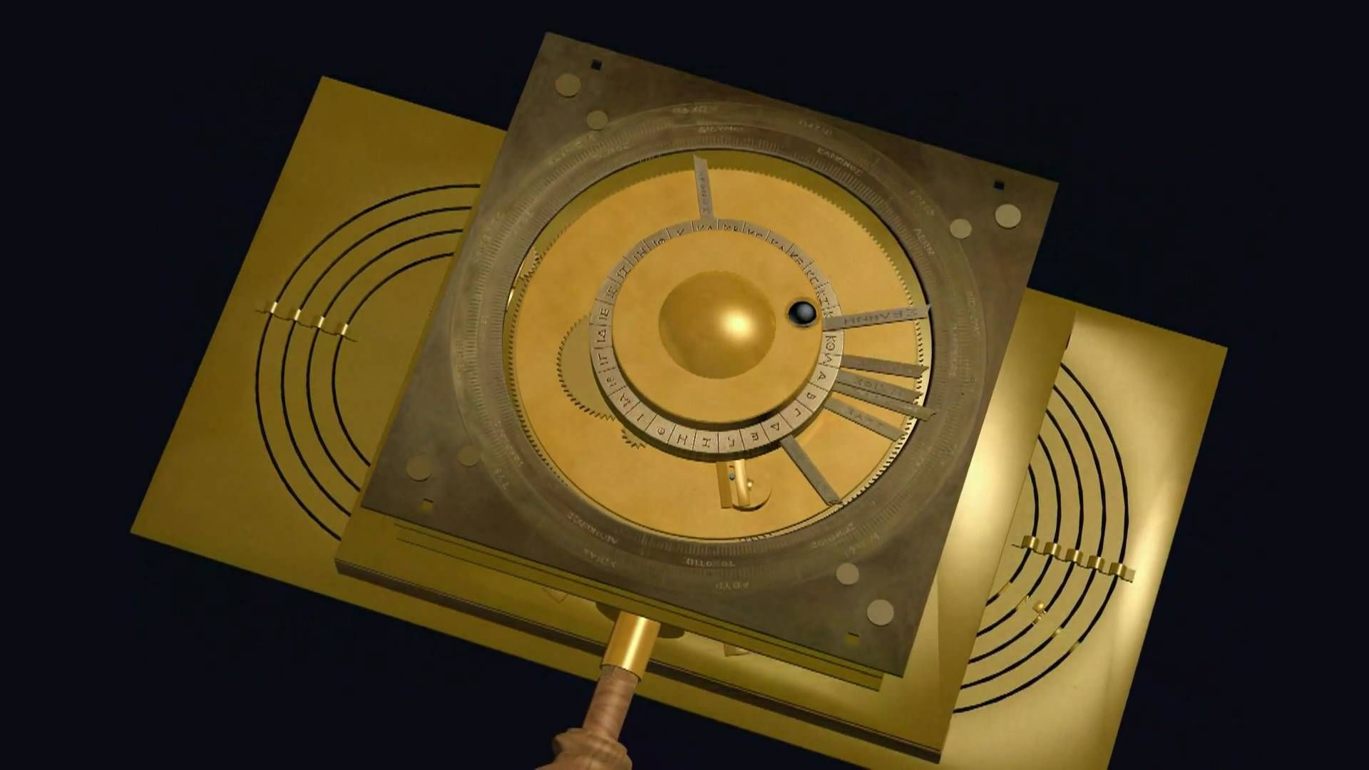Virtual model of the (still) mysterious Antikythera Mechanism by Mogi Vicentini based on the theoretical and mechanical model by Michael Wright. Find Mogi Vi...
