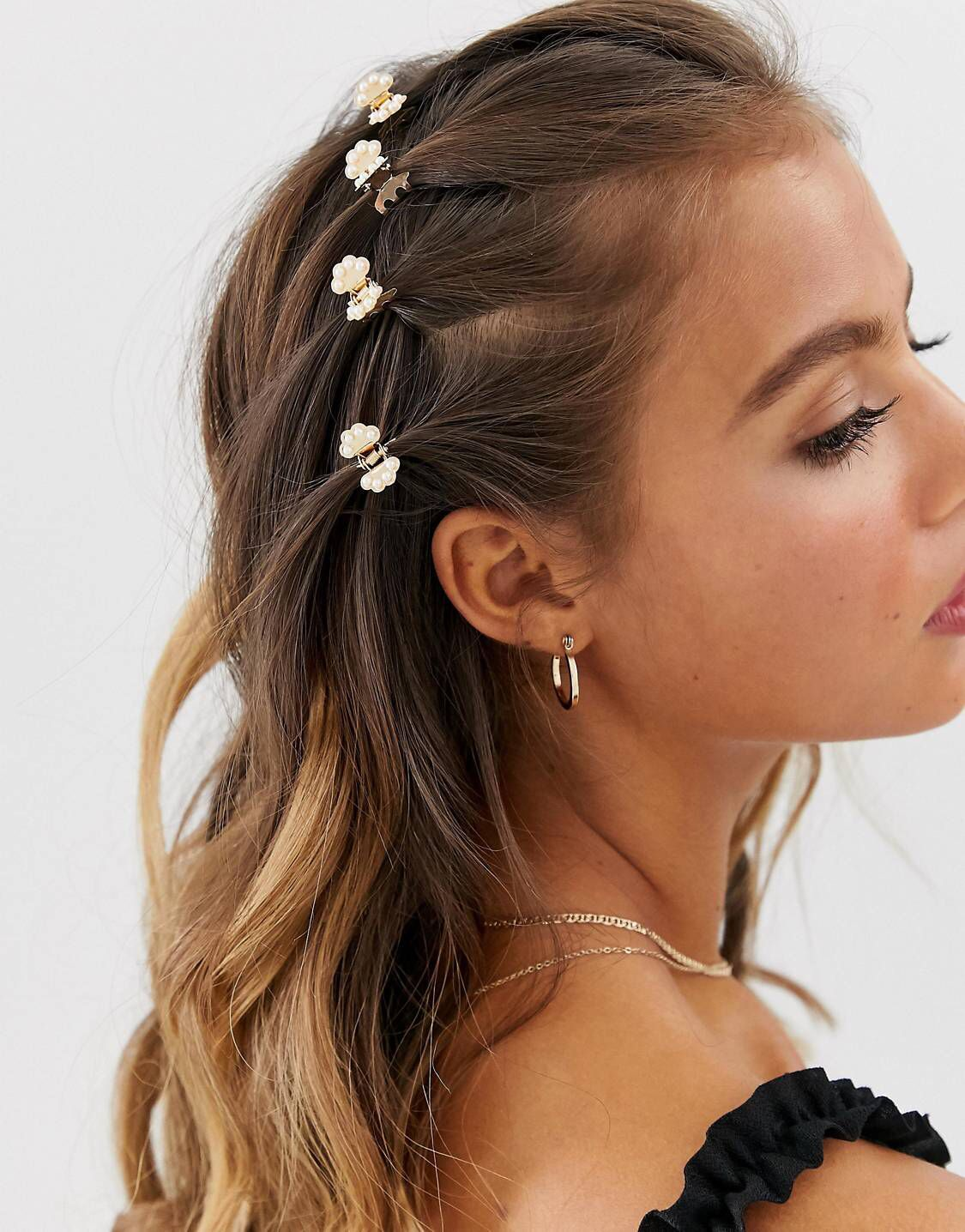 Pin by Pia Lee on ACCESSORIES   Clip hairstyles, Hair claw, Hair ...