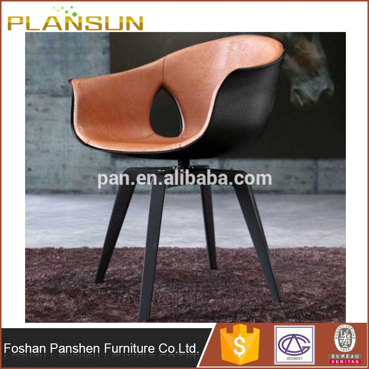 Amazing Dining Room Furniture Leather Upholstery Roberto Lazzeroni Ginger  Arm Chair Replica With Black Steel Swivel Base With Aviator Chair Knock Off.