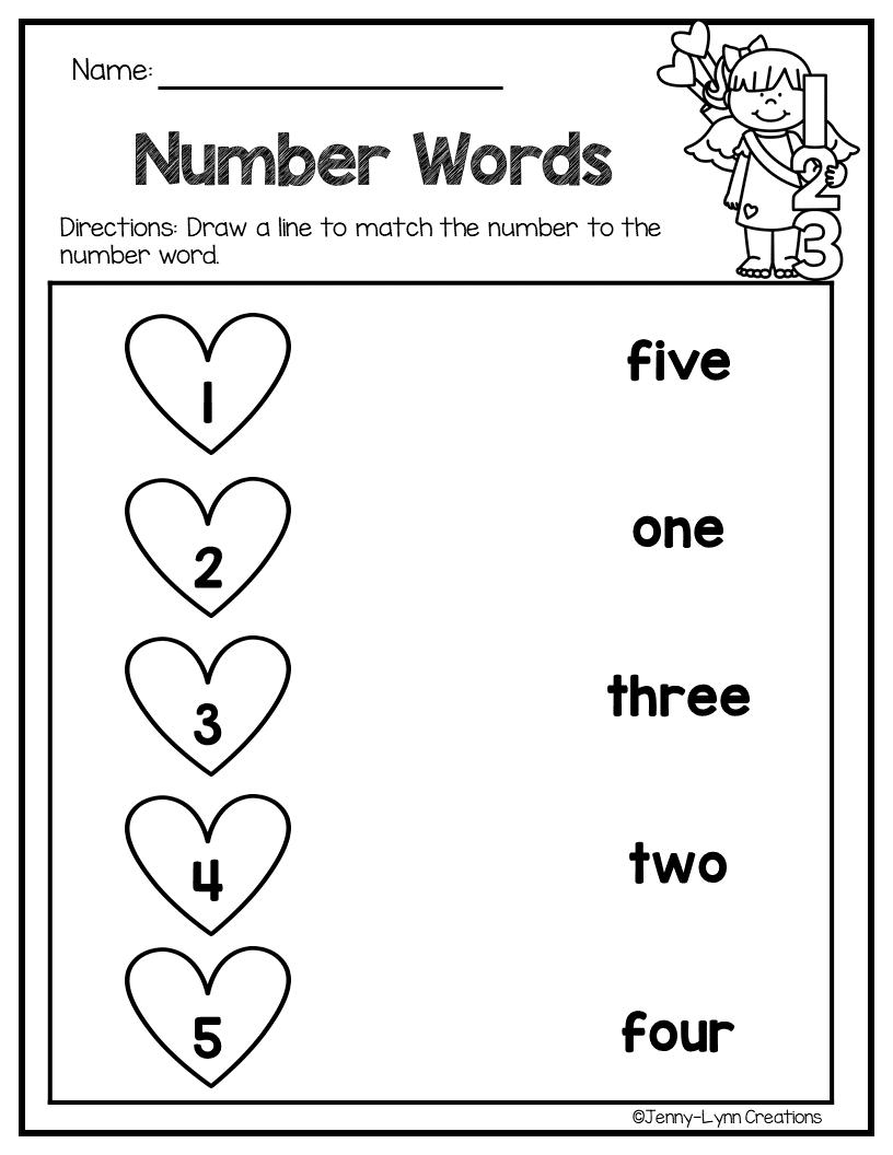 February Math Literacy Kids Worksheets Preschool Math Literacy Kids Math Worksheets [ 1056 x 816 Pixel ]