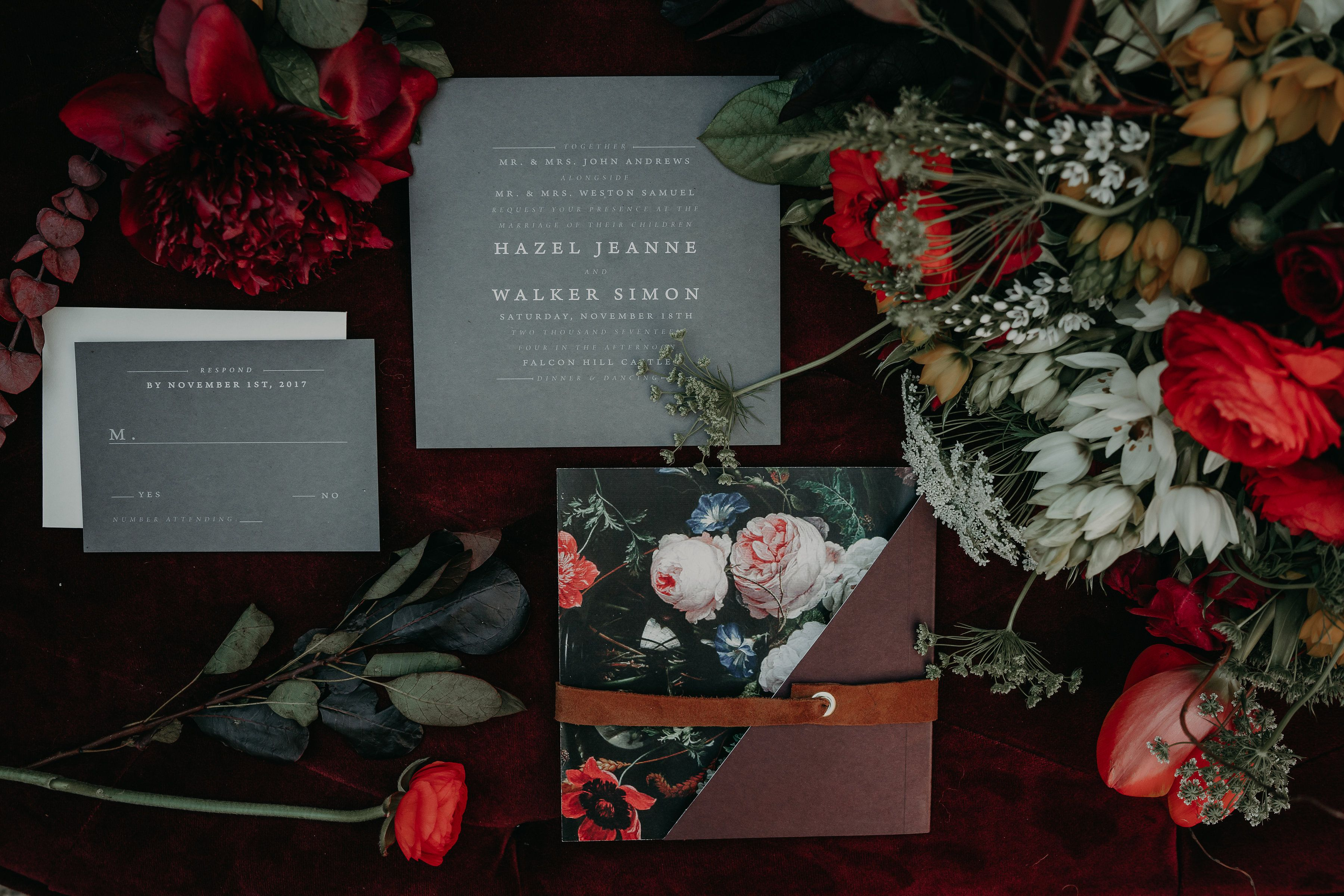 Modern hygge wedding invitation inspiration modern invitation